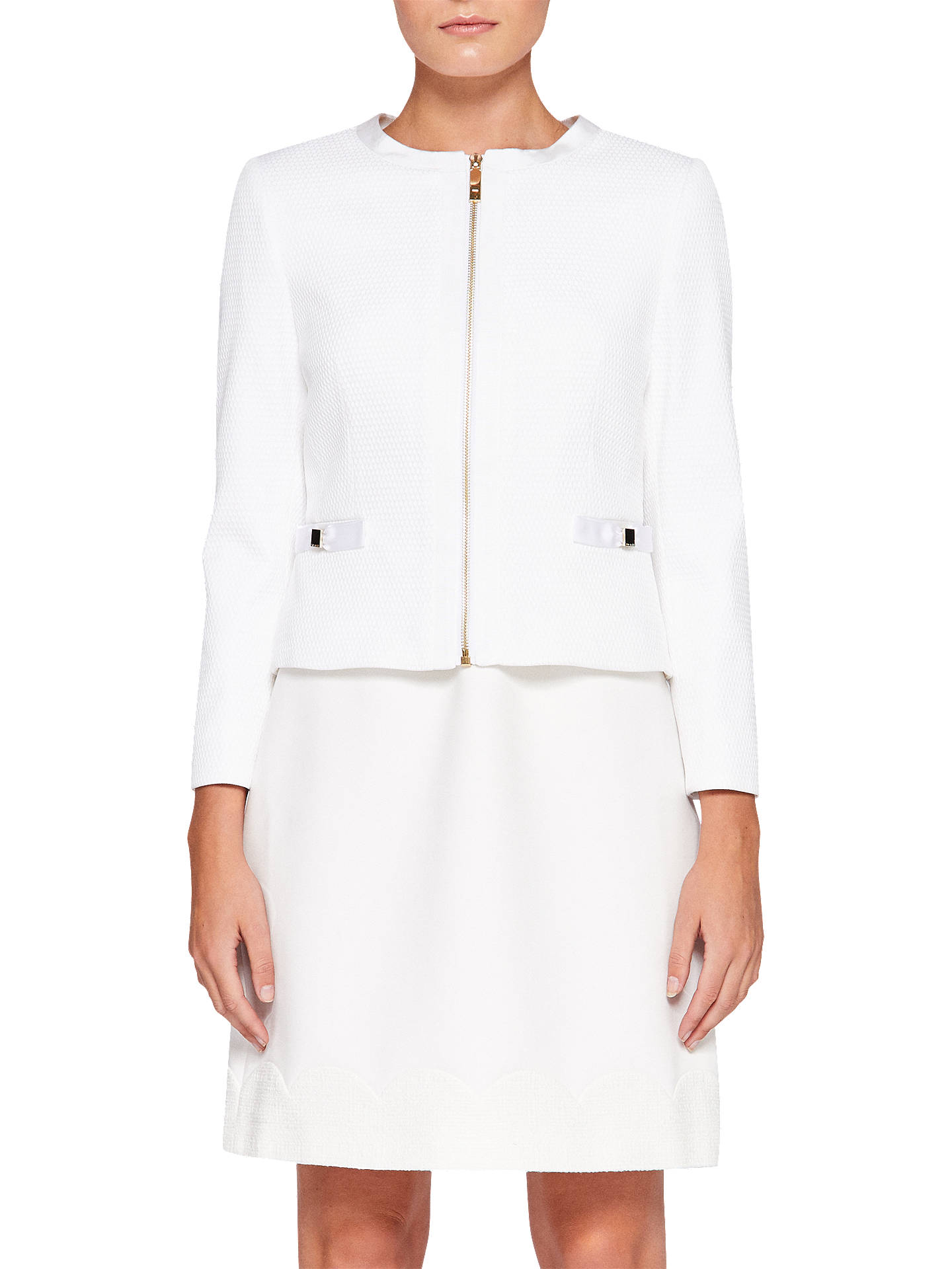 ae03dc93c Buy Ted Baker Ione Textured Cropped Bow Jacket