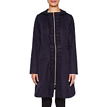 Buy Ted Baker Zowe Ruffle Detail Parka, Navy Online at johnlewis.com
