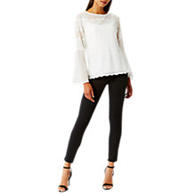 Buy Coast Tara Lace Mesh Top, Ivory Online at johnlewis.com