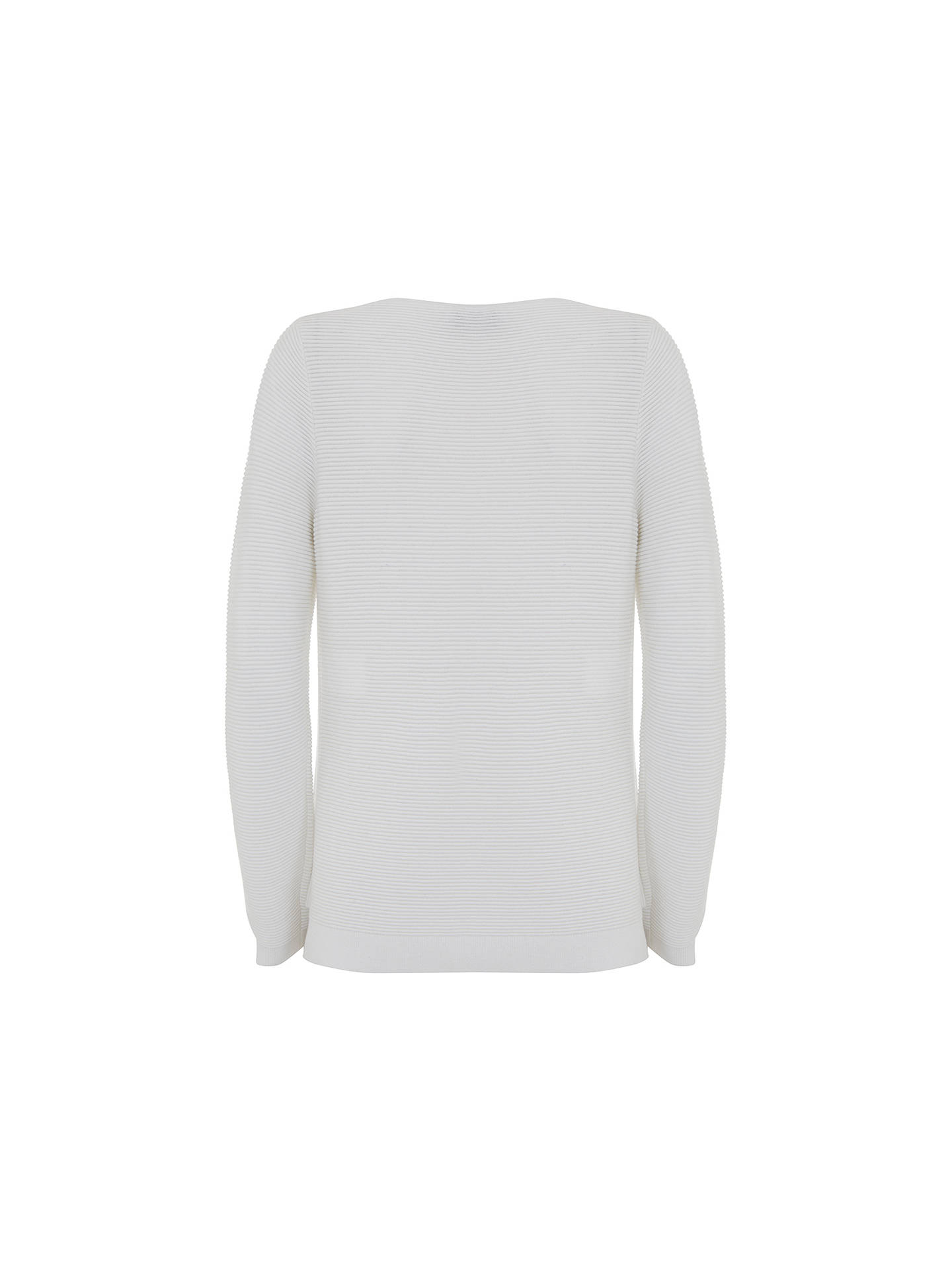 BuyMint Velvet Button Ottoman Rib Jumper, Ivory, 6 Online at johnlewis.com