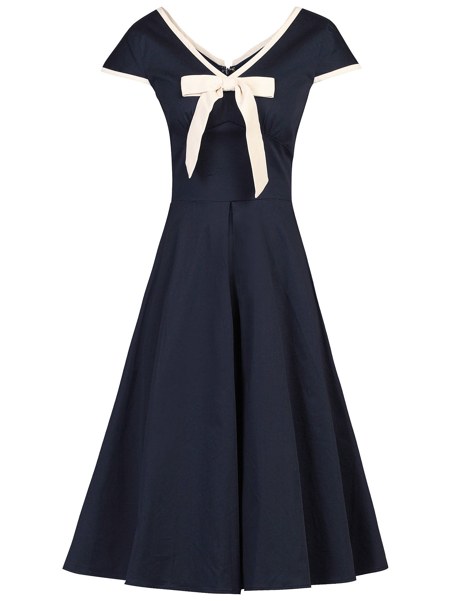 BuyJolie Moi Bow Detail 50s Flare Dress, Navy, 8 Online at johnlewis.com