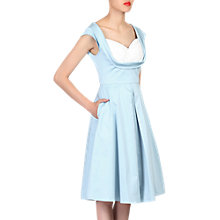 Buy Jolie Moi Crossover Bust Ruched Prom Dress, Blue Online at johnlewis.com