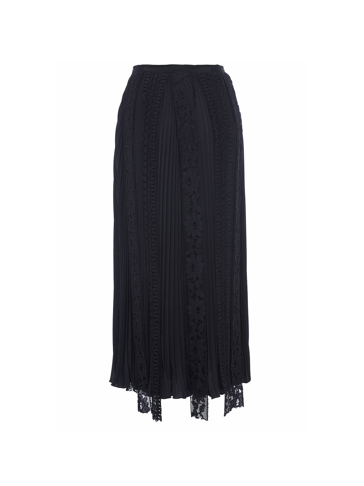 17f8d91fdec Buy French Connection Classic Crepe Maxi Skirt, Black, 6 Online at  johnlewis.com ...