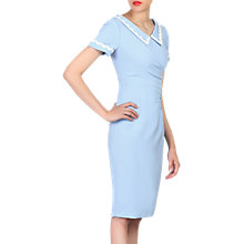 Buy Jolie Moi Collar Bodycon Dress, Light Blue Online at johnlewis.com