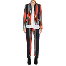 Buy French Connection Dovie Stripe Suiting Mix Slim Trousers, Copper Coin/Utility Blue Online at johnlewis.com