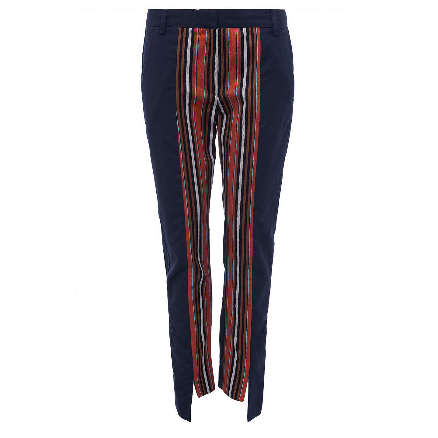 BuyFrench Connection Dovie Stripe Suiting Mix Slim Trousers, Copper Coin/Utility Blue, 6 Online at johnlewis.com