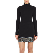 Buy French Connection Deja Sparkle Mini Skirt, Black Online at johnlewis.com