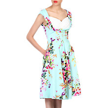 Buy Jolie Moi Floral Crossover Bust Dress, Green Floral Online at johnlewis.com