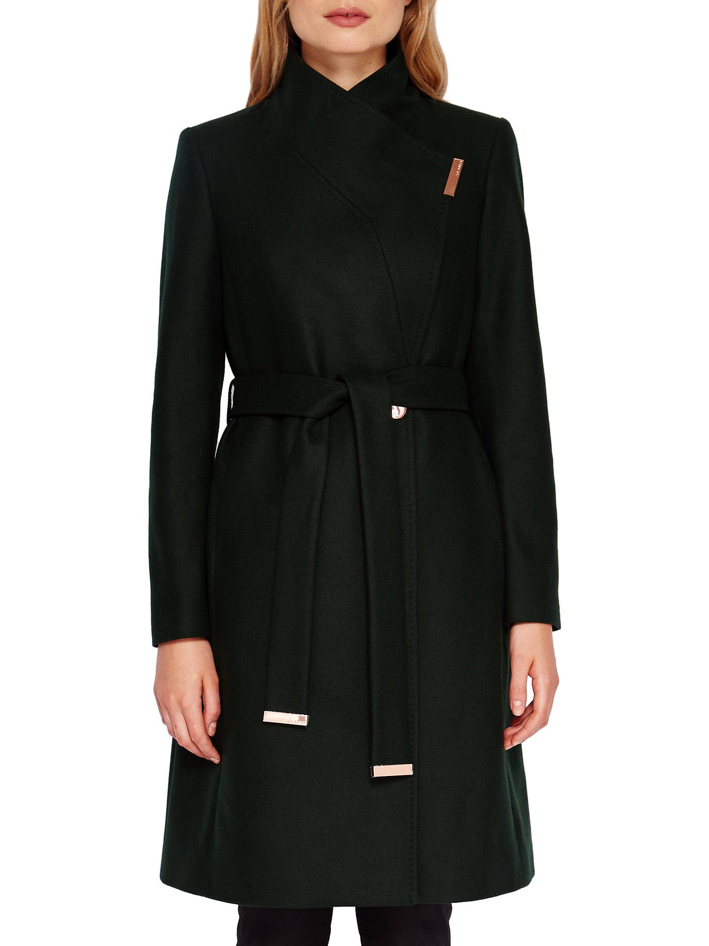 ecc0769b2 Ted Baker Kikiie Wrap Front Coat at John Lewis   Partners