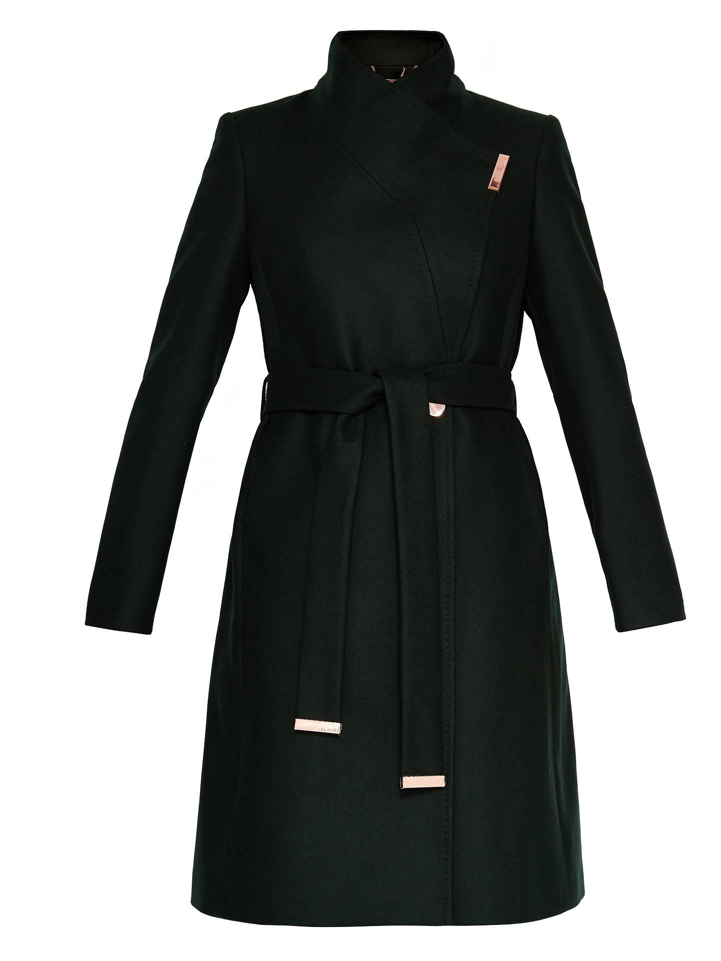 55192d2f8 Ted Baker Kikiie Wrap Front Coat at John Lewis   Partners