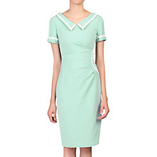 Buy Jolie Moi Collar Bodycon Dress, Light Green Online at johnlewis.com