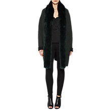 Buy French Connection Vhari Double Sided Faux Fur Collar Coatigan, Ink Green/Black Online at johnlewis.com