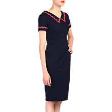 Buy Jolie Moi Collar Bodycon Dress, Navy Online at johnlewis.com