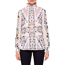 Buy Ted Baker Meranda Unity Floral High Neck Blouse, Pink Online at johnlewis.com