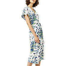 Buy Warehouse Full Bloom Wrap Dress, Cream Online at johnlewis.com