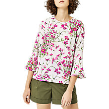 Buy Warehouse Full Bloom Top, Pink Online at johnlewis.com