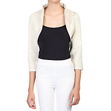 Buy Jolie Moi Bolero Jacket, Oyster Online at johnlewis.com