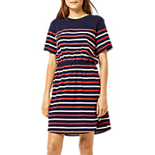 Buy Warehouse Engineered Stripe Dress, Navy Online at johnlewis.com