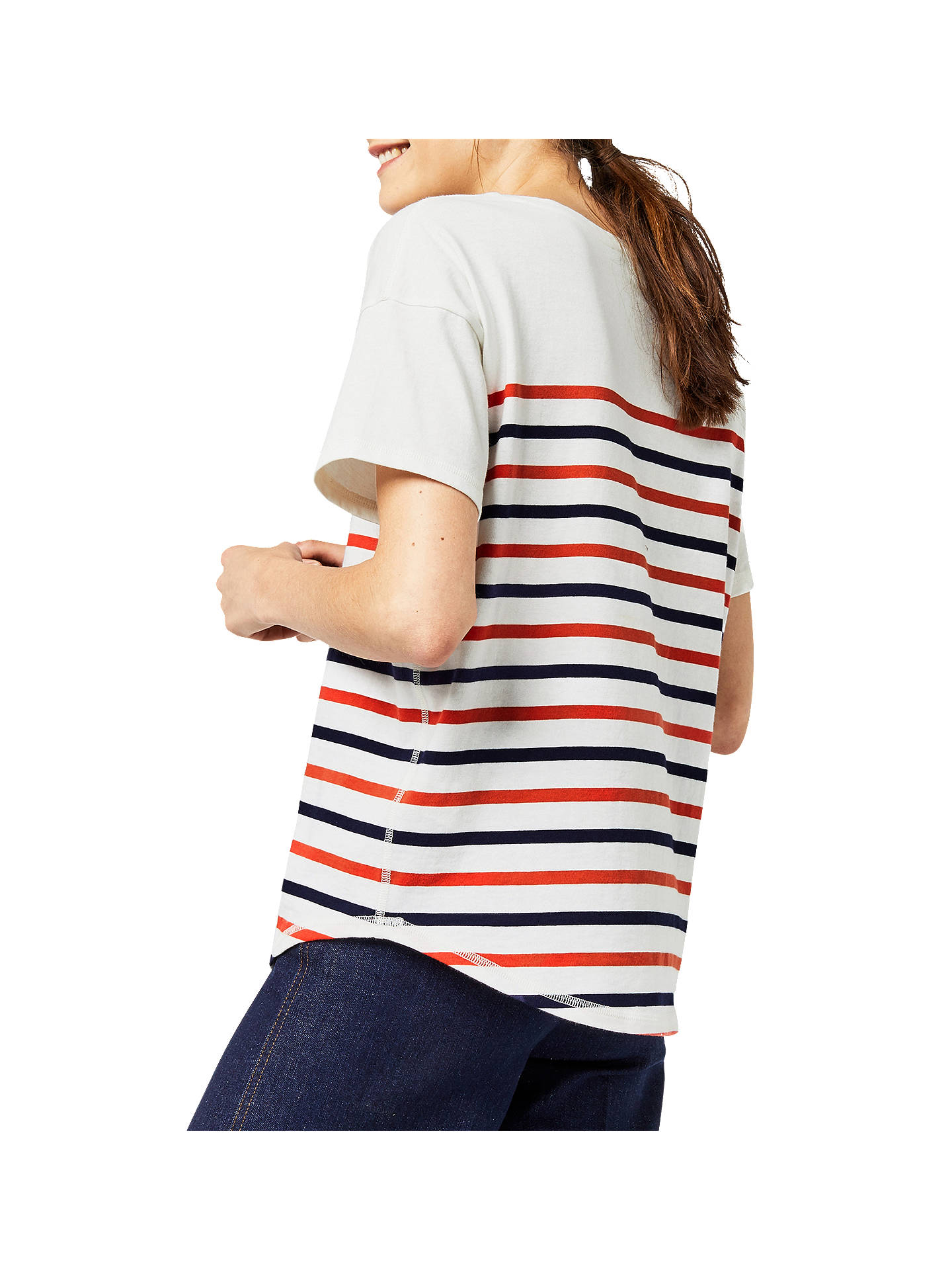 BuyWarehouse Engineered Stripe Top, Multi, 6 Online at johnlewis.com