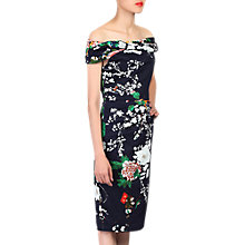Buy Jolie Moi Retro Floral Print Bardot Dress Online at johnlewis.com