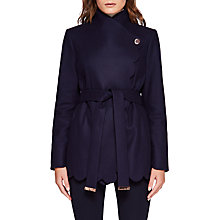 Buy Ted Baker Aastar Short Wrap Coat, Navy Online at johnlewis.com
