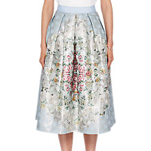 Buy Ted Baker Kikey Patchwork Pleat Skirt, Pale Blue Online at johnlewis.com