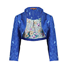 Buy Jolie Moi Textured Bolero Jacket, Royal Blue Online at johnlewis.com