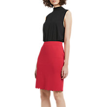 Buy French Connection Lela Crepe Pencil Skirt, Watermelon Online at johnlewis.com