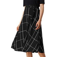 Buy L.K. Bennett Dinah Check Skirt, Black/White Online at johnlewis.com