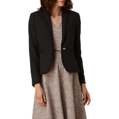 L.K. Bennett Shippa Tweed Blazer Jacket, Black