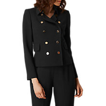 Buy L.K. Bennett Nadia Double Breasted Jacket, Black Online at johnlewis.com