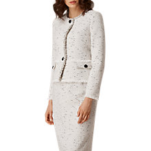 Buy L.K. Bennett Laurel Tweed Jacket, Cream Tweed Online at johnlewis.com