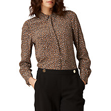 Buy L.K. Bennett Carine Silk Print Shirt, Animal Online at johnlewis.com