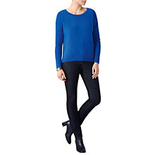 Buy Pure Collection Dip Hem Jumper, Vivid Sapphire Online at johnlewis.com