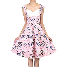 Buy Jolie Moi Floral Print Crossover Dress, Pink Floral Online at johnlewis.com