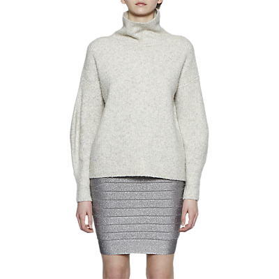 French Connection Rosa Knit Pencil Skirt, Silver