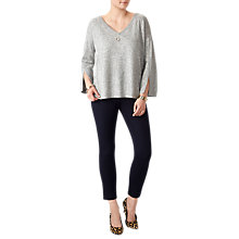 Buy Pure Collection Split Sleeve Relaxed Sweater, Heather Dove Online at johnlewis.com