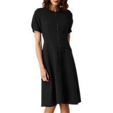 Buy L.K. Bennett Nora Zip Front Dress, Black Online at johnlewis.com