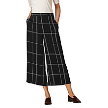 Buy L.K. Bennett Dinah Check Wide Leg Trousers, Black/Cream Online at johnlewis.com