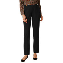 Buy L.K. Bennett Nadia Button Detail Trousers, Black Online at johnlewis.com