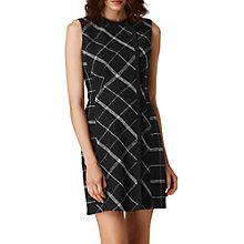 Buy L.K. Bennett Zuri Check Wool Blend Dress, Black/Cream Online at johnlewis.com