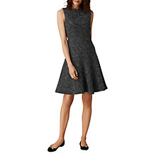 Buy L.K. Bennett Shelby Tweed Dress, Black Tweed Online at johnlewis.com