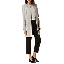 Buy L.K. Bennett Belize Large Check Coat, Grey Online at johnlewis.com