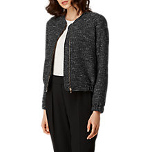 Buy L.K. Bennett Shelby Tweed Bomber Jacket, Black Tweed Online at johnlewis.com