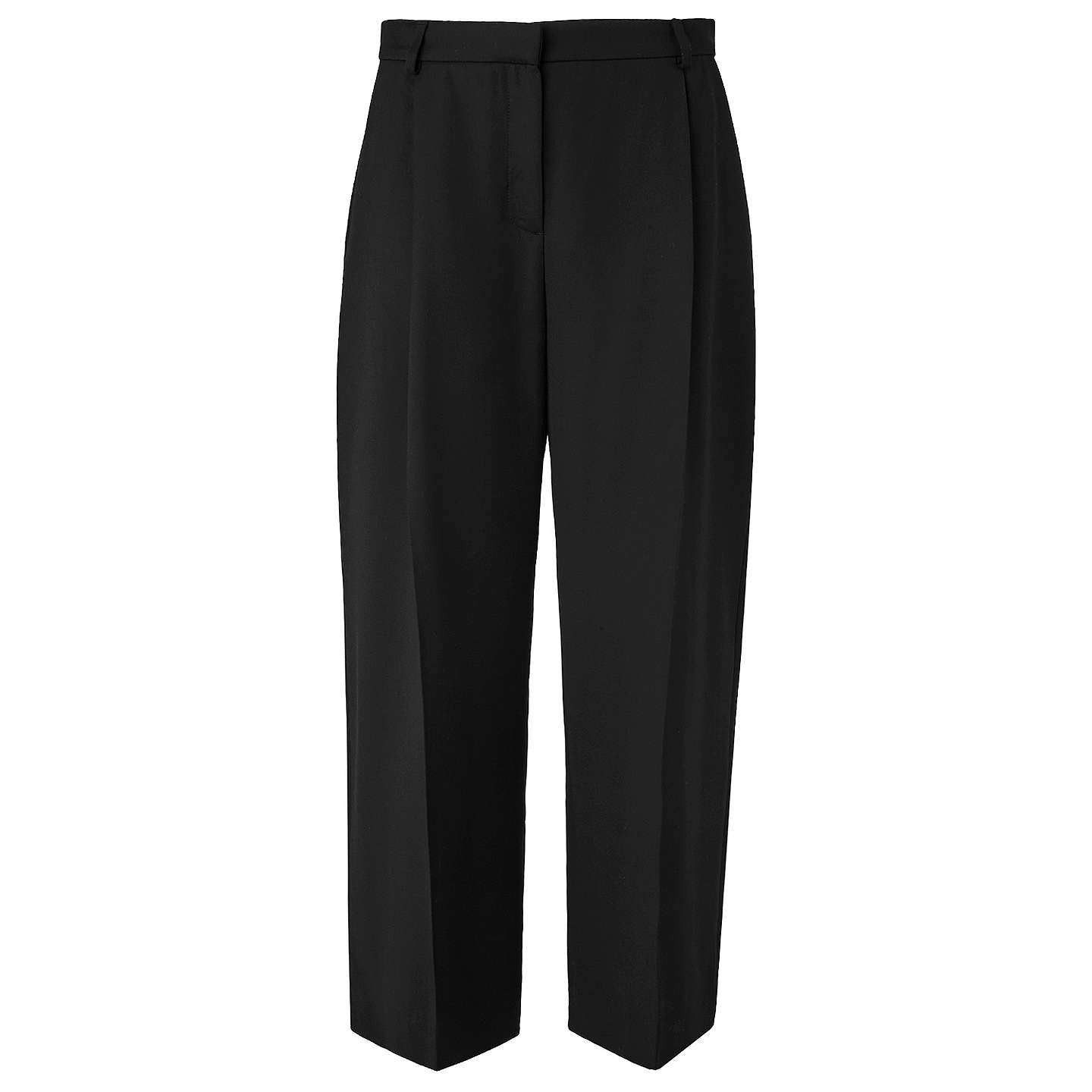 BuyL.K. Bennett Elma Cropped Trousers, Black, 8 Online at johnlewis.com