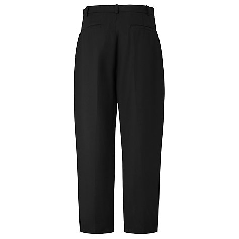 Buy L.K. Bennett Elma Cropped Trousers, Black Online at johnlewis.com