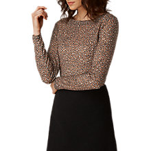Buy L.K. Bennett Electra Animal Print Top, Brown/Multi Online at johnlewis.com
