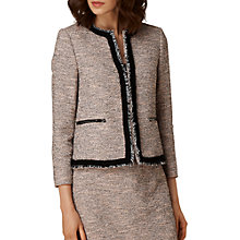 Buy L.K. Bennett Gee Tweed Jacket, Pink Online at johnlewis.com