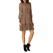 Buy L.K. Bennett Dakota Short Printed Dress, Brown/Multi Online at johnlewis.com