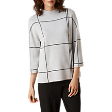 Buy L.K. Bennett Jacqui Check Jumper, Grey/Black Online at johnlewis.com